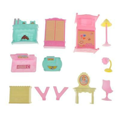 Colorful Plastic Family Pretend Play House Villa Furniture Toy Birthday Gift