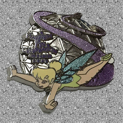 Tinker Bell over Spaceship Earth Pin - Happiest Pin Celebration - DISNEY LE 1000