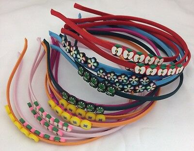 Wholesale Job Lot 100pcs  Thin Plastic Alice Hair Headbands For Kids, Girls