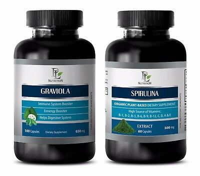 Memory booster and focus supplement organic - GRAVIOLA – SPIRULINA COMBO
