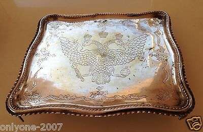 Antique Sotheby's Provenance Russian Silver 1789 Year Salver S.savelev