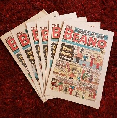 BEANO COMICS from the 1980s Vintage Collectable * Rare* Buy 3 get one FREE.