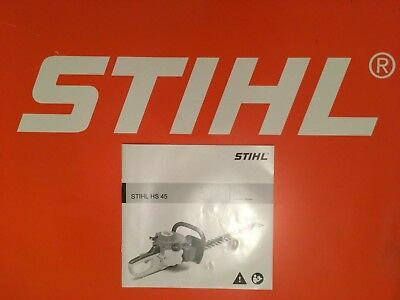 "Stihl Hedge Cutter Trimmer HS45 Manual Brand New 18"" 24"""