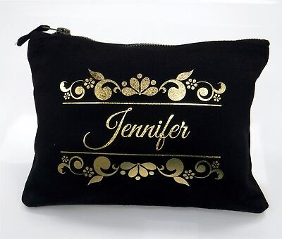 Personalised Accessory Bag / Gift Bag / Clutch With Your Name Christmas Present