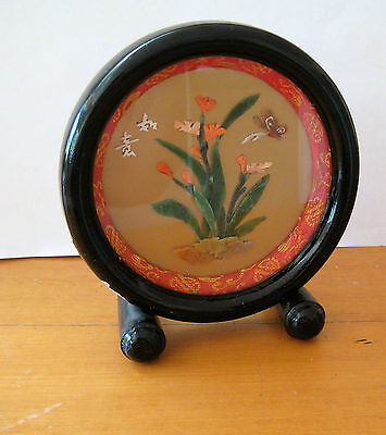 Vintage Chinese Asian Picture - Jade, Coral