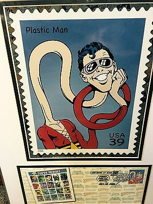 PlasticMan USPS 1st DAY Issue SDCC 2006 Limited Edition Matted Poster 16 X 12