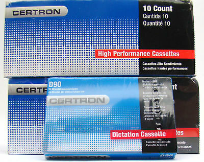 20 New Sealed Certron High Performance Cassette Tapes D90