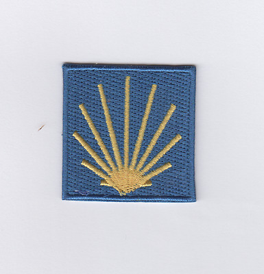 Scallop Patch, Sew-On Patch for Jakobsweg Pilgrim's Progress, Spain
