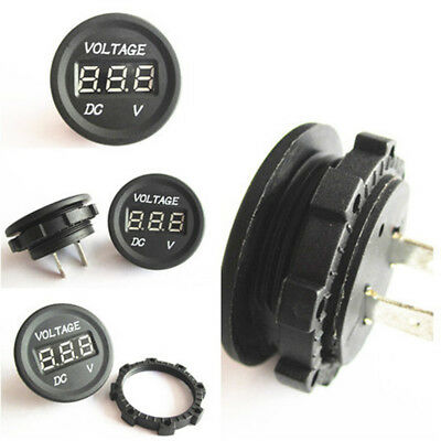 12V-24V Automobile Car LED Digital Volt Gauge Voltmeter Socket Waterproof Meter