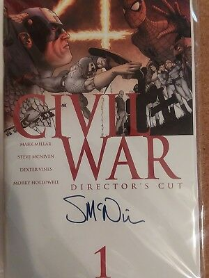Marvel Comic's Civil War 1 Directors Cut Signed by Steve McNiven High Grade
