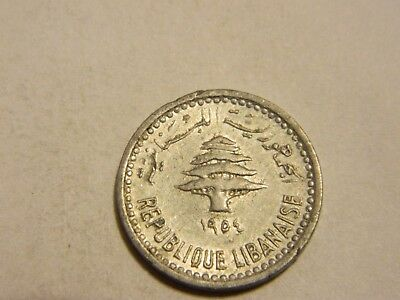 1954 Lebanon 5 Piastres Cedar Tree ---- Lot #1429