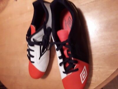 Boys Umbro J. Spire HG Soccer Cleats Size 11, Black, Orange, White, Brand NEW