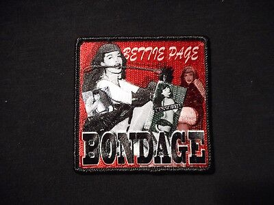 Bettie Page Bondage Iron On Embroidered Patch