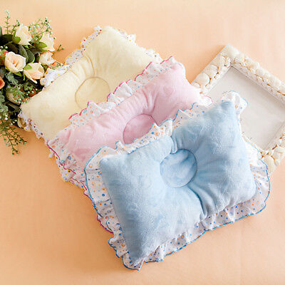Newborn Infant Baby Anti Roll Baby Pillow Prevent Flat Head Neck Support Kawaii