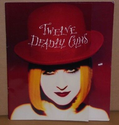 Cyndi Lauper concert tour book souvenir program Twelve Deadly Cyns 1994 - 1995
