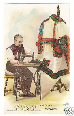 Hungary Man - 1892 Singer Sewing Machine -Costume of Nations Series