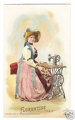 Florence , Italy- 1892 Singer Sewing Machine -Costume of Nations Series