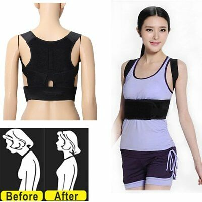 Magnet Therapy Back Shoulder Posture Corrector Support Belt Brace Vest Unisex us