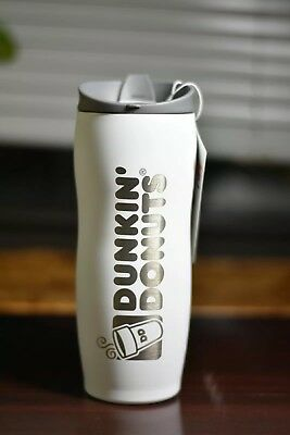 Brand New Dunkin Donuts 14 Oz stainless Coffee Tumbler Travel mug