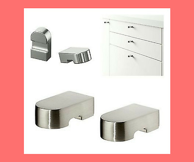 New ikea varnhem stainless steel drawer and cabinet for Ikea kitchen handles and knobs