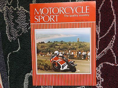 Motorcycle Sport Magazine - March 1985 - Bill Smith Production Tt Cover