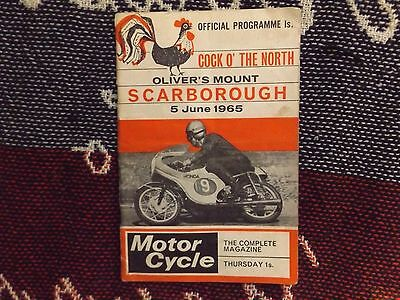 1965 Olivers Mount Motor Cycle Programme 5/6/65 - Cock O The North
