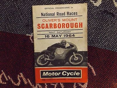 1964 Olivers Mount Motor Cycle Programme 16/5/64 - National Road Races