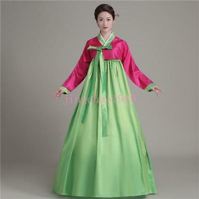 Chic Korean Women Hanbok Ancient Traditional Dress National Show Loose Cosplay