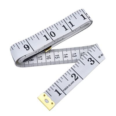 Soft Tape Measure Sewing Tailor Cloth Ruler White Inch Centimeter Plastic Crafts