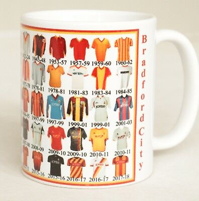 Bradford City Mug Football shirt history New Gift