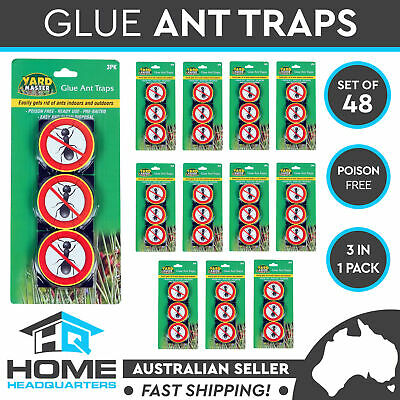 48 Pack of 3 Insects Glue Trap Ant Cockroach Crawling Bait Stick Pest Control