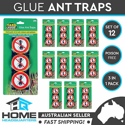12 Pack of 3 Insects Glue Trap Ant Cockroach Crawling Bait Stick Pest Control