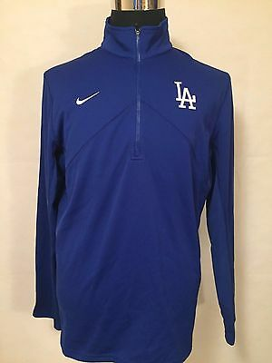 MLB Los Angeles Dodgers LGE 1/2 Zip Dri-Fit Performance Pullover by NIKE