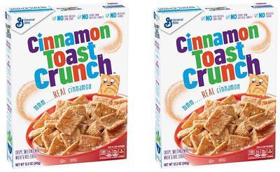 910380 2 x 345g BOXES OF CINNAMON TOAST CRUNCH CRISPY & SWEETENED YUMMY CEREAL!