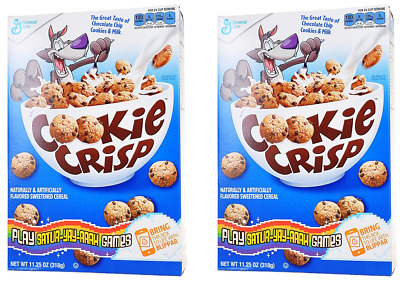 912272 2 x 318g BOXES OF COOKIE CRISP CHOCOLATE CHIP COOKIES & MILK SWEET CEREAL