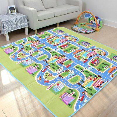 Giant Kids Baby City Playmat Fun Town Cars Play Road Carpet Rug Foam Toy Mat NEW