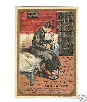 """Great Atlantic & Pacific Tea Co. """"Bread and Water"""" Trade Card"""