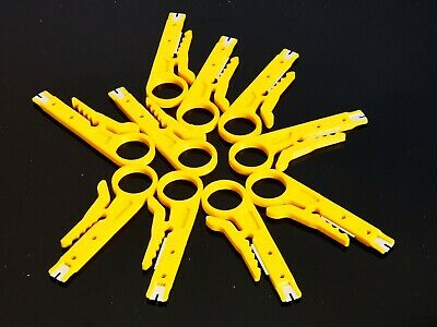 10x Plastic Strip Data Cable Wire Punch Down Cutter Stripper Equipment Yellow