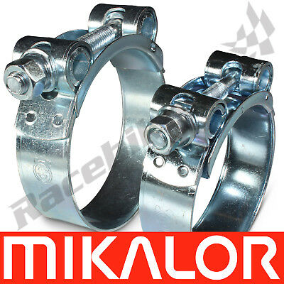 Pack of 2 Mikalor Supra W1 Mild Steel Hose Clamp Exhaust T Bolt Heavy Duty Clips