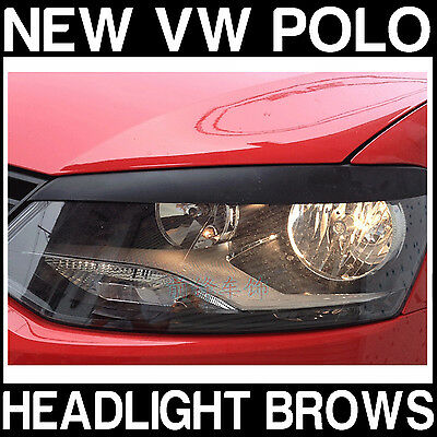 VW POLO V 5 MK5 (6R) Headlight Brows Trim Cover Lids Brow Eyebrows NEW