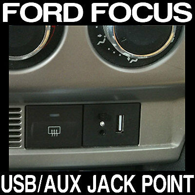 Ford FOCUS USB Dash Connection Module Point Custom MP3 + 3.5mm Jack BLACK