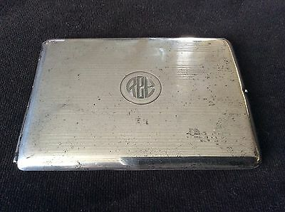 A SOLID STERLING SILVER CIGARETTE CASE BOX by ELGIN