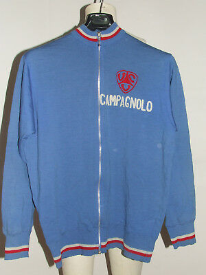 Shirt Bike Jacket Shirt Maillot Cycling Vintage 70's Campagnolo Wool Embroidered