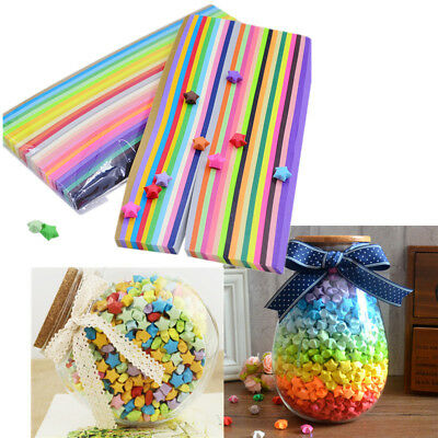 27 Colors 540 Pieces Lucky Wish Star Origami Paper Ribbon Free Shipping Buy More
