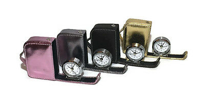 Compact Travel Alarm Clock Novelty Suitcase Choose Gold Black Purple Pink Gift