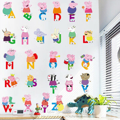 Peppa Pig Removable Wall Stickers Vinyl Decal Kids Nursery Decor Art