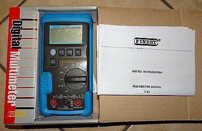 Finest 600V CAT III Handheld Digital Multimeter 10A Fused 400mA