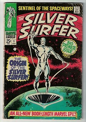 MARVEL COMICS issue 1 SILVER SURFER fantastic four VG+ 4.5 1969 fantastic four