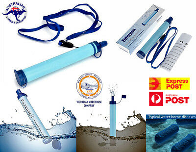 Fliterpen Filtration Straw 800L Portable Water Filter Purifier Straw Camping