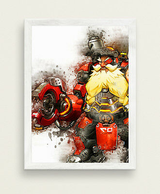 Torbjorn Poster Overwatch Game Poster BIG SIZE 33x47 Gamer Print SW444